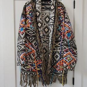 Boho open jacket from Zara